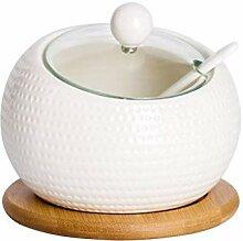 JJDSN Pot d'assaisonnement en céramique