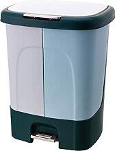 JKXWX Poubelle Boîte à ordures Double-Barrel