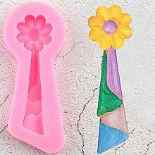 JLZK Fleur Gland Dentelle Silicone Moule Bricolage