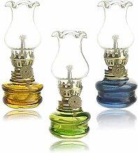 JMZYQ Classique Lampe à Huile en Verre au