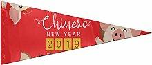 JOCHUAN Fanion décoration Rouge Bonne année