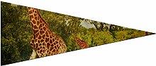 JOCHUAN Fanion Drapeaux Sports Image Girafes