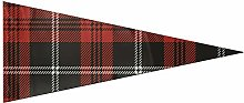 JOCHUAN Fanion Party Banner Plaid Noir et Rouge