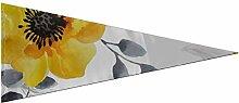 JOCHUAN Triangle Fanion bannière Peint Jaune