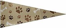 JOCHUAN Yard Flag Dog Bone Paw Foot Print Flag