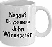 John Winchester Supernatural inspiré tasse drôle