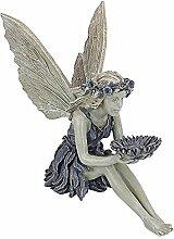 JOJOJOY Figurine de fée des fleurs assise, ange