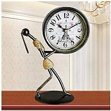 Joli Horloge de table Antique Mute Iron Art Desk