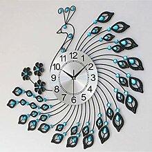 Joli Horloge de table horloge de paon horloge