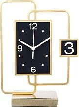 Joli Horloge de table horloge métallique horloge