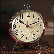 Joli Horloge de table nordique métal horloge
