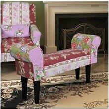 Joli meubles gamme monaco banc patchwork large