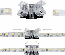 Jonction rapide ruban LED IP20 8mm - 2 pôles
