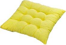 JONJUMP Galette de chaise à nouer jaune pour
