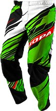 Jopa MX S16 Burner, pantalon textile - Vert/Rouge
