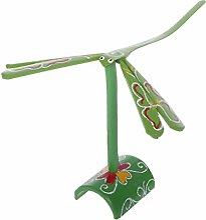Jouet fantaisie en bambou avec libellule, balance