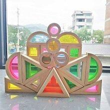 Jouets Montessori en bois massif pour enfant, avec