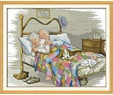 Joy dimanche le vieux couple marié, kit de motifs
