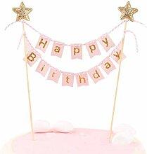 Joyeux anniversaire gâteau Bannière–Fait