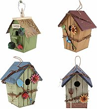 joyMerit Kit de 4 Nichoirs Oiseaux Cabane à