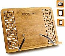 Joyoldelf Support pour Livre en Bambou,