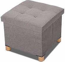 Joyzan Pouf de Rangement, Cube Pouf de Rangement
