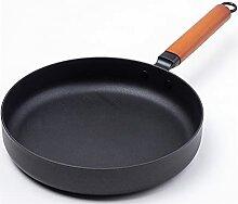 JPING Pot en fonte Vintage forgé wok non-bâton