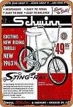 JSBFR Schwinn Sting-Ray Bike Rétro Métal Decor