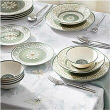 JSJJAEY Assiette de Diner Luxe 24 pièces Plaque