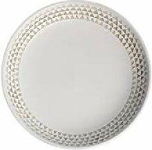 JSJJRFV Assiette de Diner Givré Gris dîner en