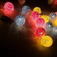 Julymall Guirlande lumineuse à LED à piles pour