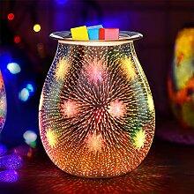 Jumkeet Brûleur à huile électrique en verre 3D