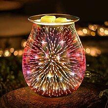 JUMKEET Brûleur à huile électrique en verre -