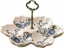 JUNYYANG Divisions en céramique Creative thé et