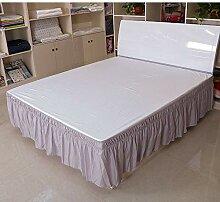 Jupe de lit Couleur unie Jupe de lit élastique