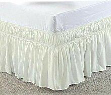 Jupe de lit Jupe de lit couleur, enveloppe autour