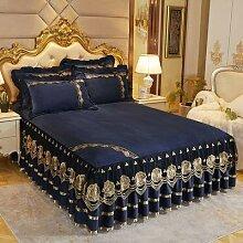 jupe de lit tour de lit couvre lit dantelle