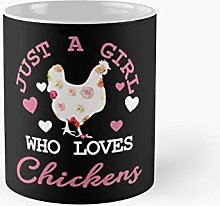 Just A Girl Who Loves Chickens Funny Vintage Farm