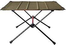 JUSTHUI Table de camping pliable portable Alliage