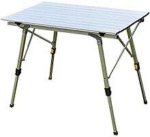 JUSTHUI Table de camping pliante en plein air UN