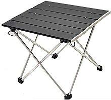 JUSTHUI Table de camping pliante table de