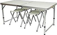 JUSTHUI Table de camping Table de pique-nique