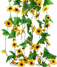 JUSTIDEA 4pcs 32Ft Guirlande de Tournesol
