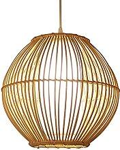 JXINGZI Art Créatif en Bambou Lampes Suspendues