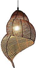 JXINGZI Lampes Suspendues en Bambou De Style