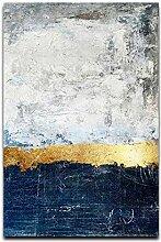 JXMK Abstrait Feuille d'or Bloc Peinture