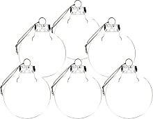 JYCAR Lot de 6 boules de Noël transparentes à