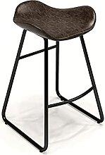 JYHJ Tabouret de bar en métal avec pieds carrés,