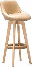 JYHQ Chaises de bar vintage en bois massif avec
