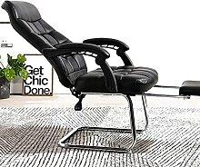 JYHQ Grand fauteuil de bureau ergonomique en cuir